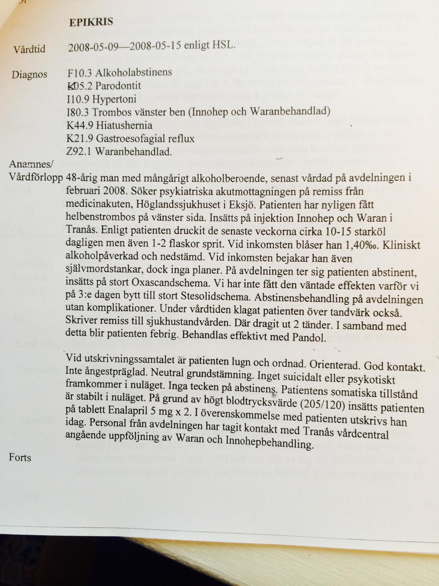 Mats Kardell bodybuilding läkarjournal journal Galten från mjölby